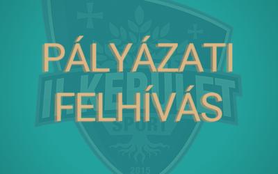 PÁLYÁZATI FELHÍVÁS II. kerületi sportklubok, sport- és diáksport egyesületek részére
