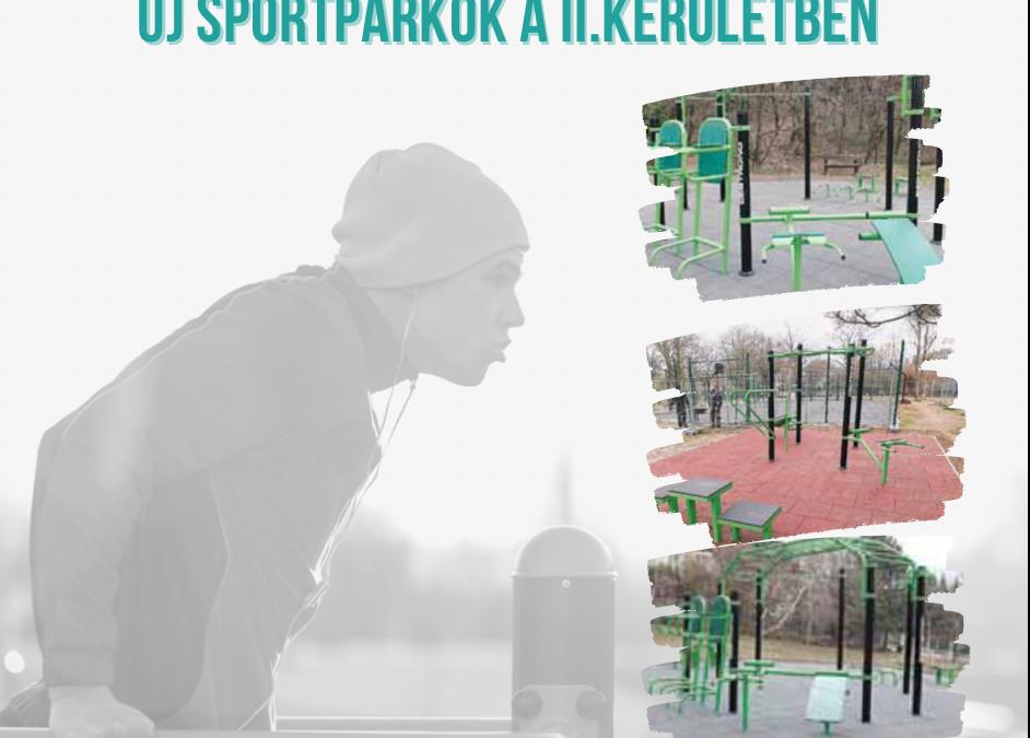 Új sportparkok a kerületben